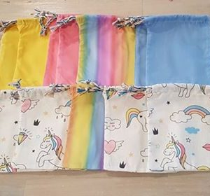 Fabric goody bags unicorn