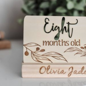 Timber Monthly Milestone card - Eight months old