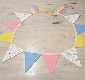 Unicorn fabric bunting