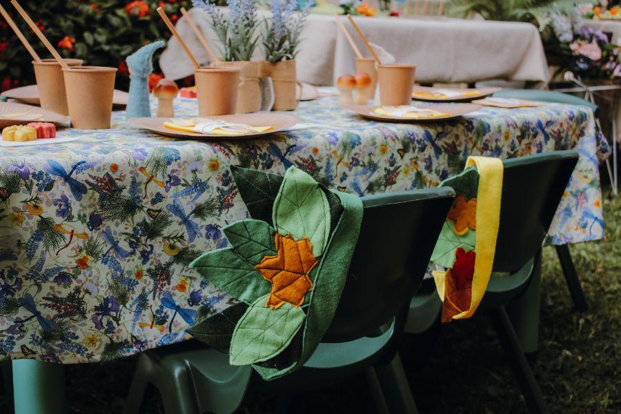 Table setting magical garden shoot