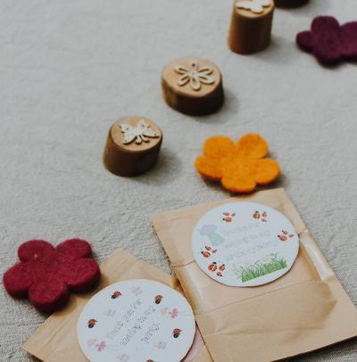 little mellow moon play dough favours the waldorf tree wooden stampers