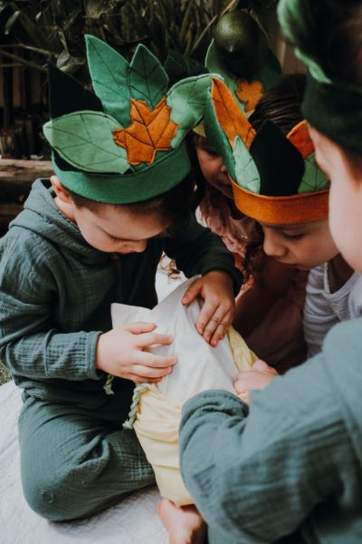 custom leaf crowns magical garden party