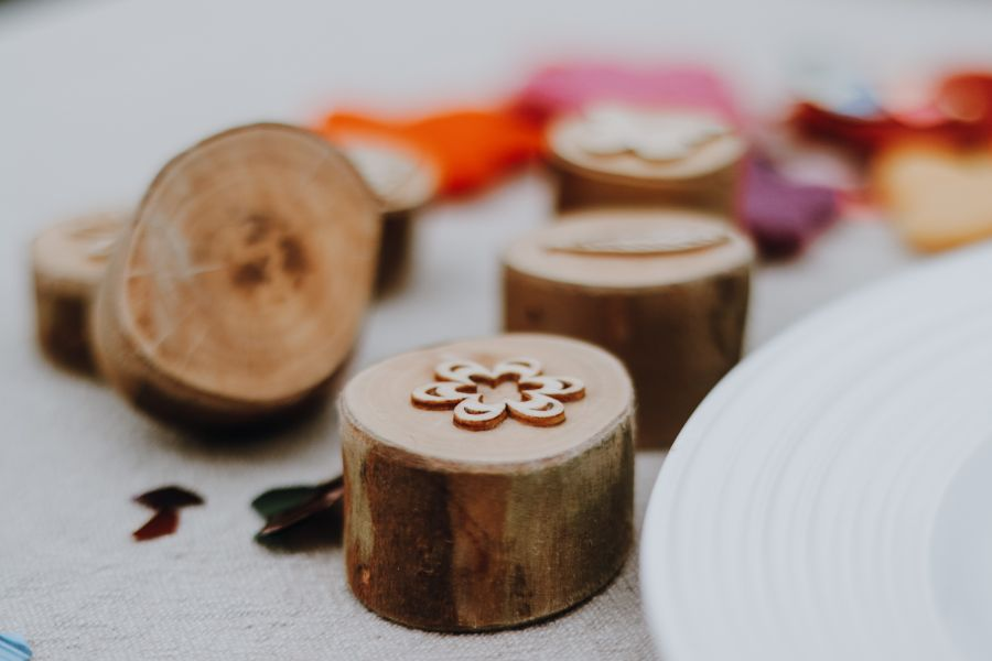 wooden stampers magical garden party