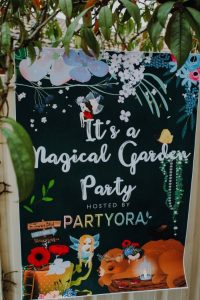 backdrop styled shoot, magical garden party