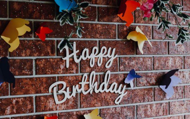 Happy Birthday wall sign