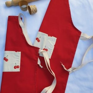 Mummy and me Apron set cherries