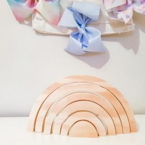 natural wooden rainbow toy