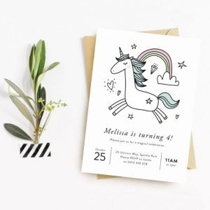 Unicorn invitation Unicorn party
