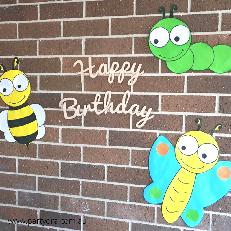 Happy birthday sign reusable party decor
