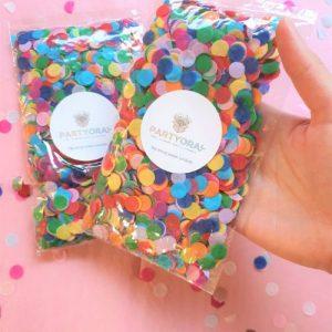 Rainbow tissue paper eco confetti