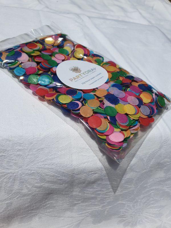 Eco confetti rainbow