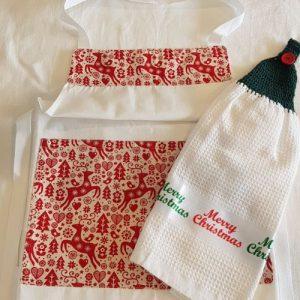 Apron and tea towel