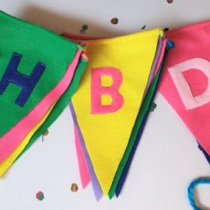 Large felt happy Birthday bunting