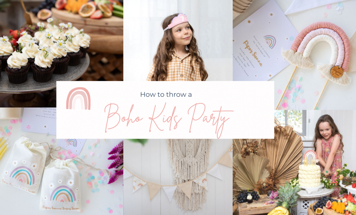 how to throw a boho kids party