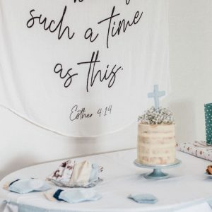 cross cake topper blue