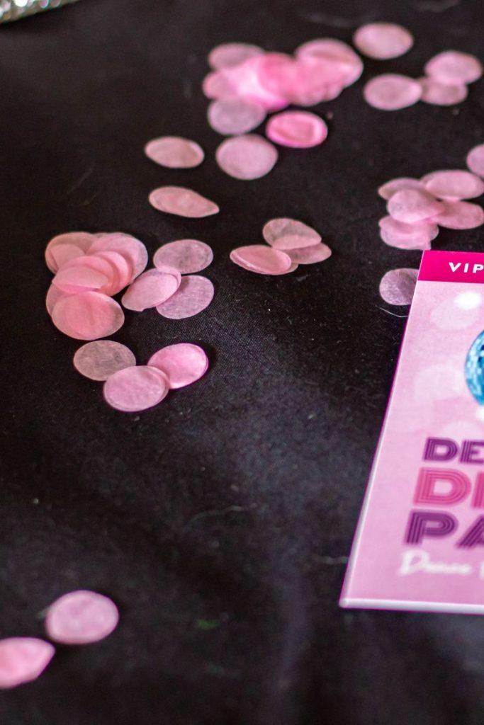 pink eco confetti