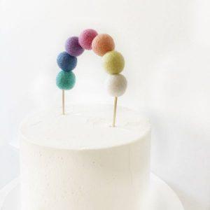 felt ball reusable cake topper