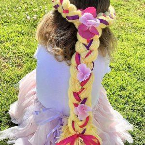 Rapunzel yarn wig