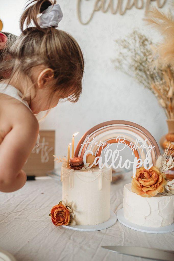 cake ideas boho party