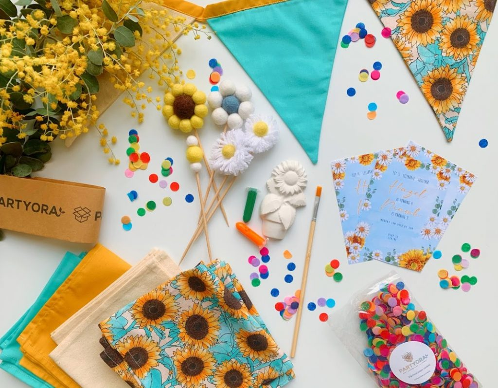 sunflower party decorations