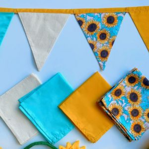 sunflower party bunting