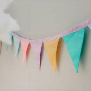 rainbow mini bunting pastel rainbow party