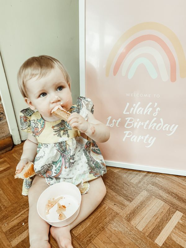 lilahs first peachy pink birthday party