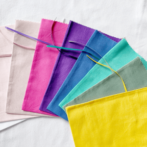 fabric coloured party bags