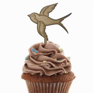 swallow wedding cupcake toppers