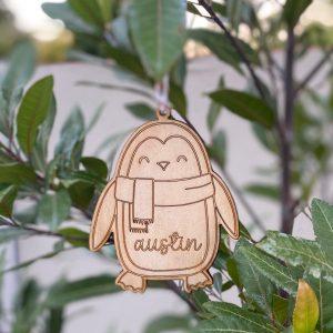 Penguin ornament eco christmas