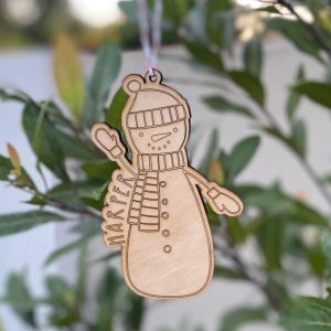 Christmas eco ornament snowman